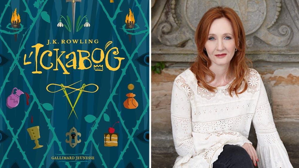 Ickabog nouveau roman de J.K. Rowling couverture et photo de la romancière