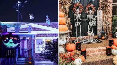 décoration extérieure folle pour halloween