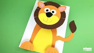 Lion 3D en papier