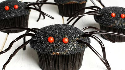 Muffins en forme d'araignée