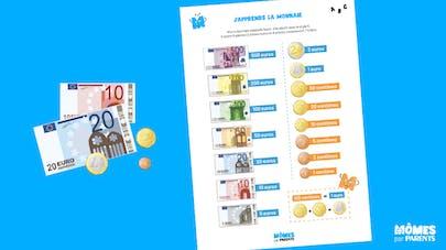 Affiche Mômes.net j'apprends la monnaie