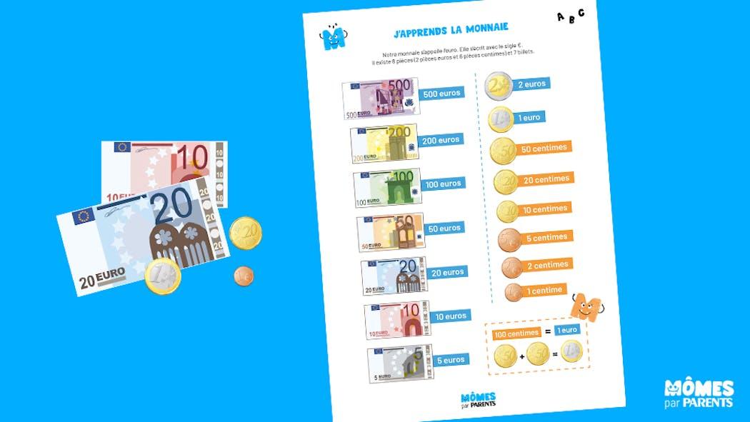Affiche : J'apprends la monnaie
