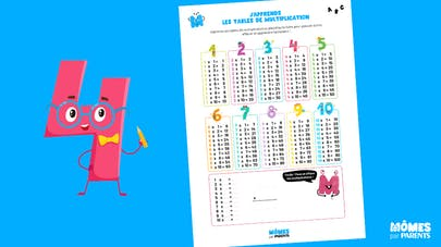 Affiche Mômes.net j'apprends les tables de multiplication