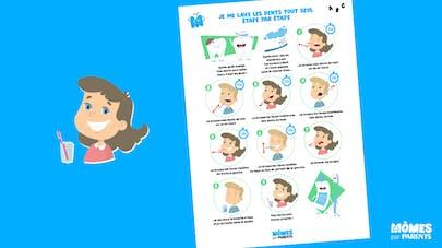 Affiche Mômes.net je me lave les dents tout seul