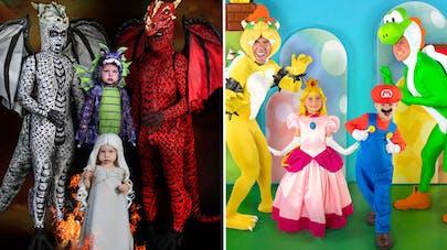 famille championne de déguisements d'Halloween