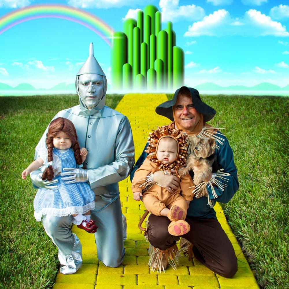 famille championne de déguisements d'Halloween Le magicien d'Oz
