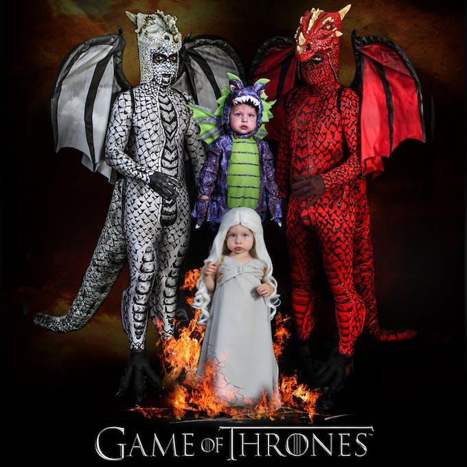 famille championne de déguisements d'Halloween Game of Thrones