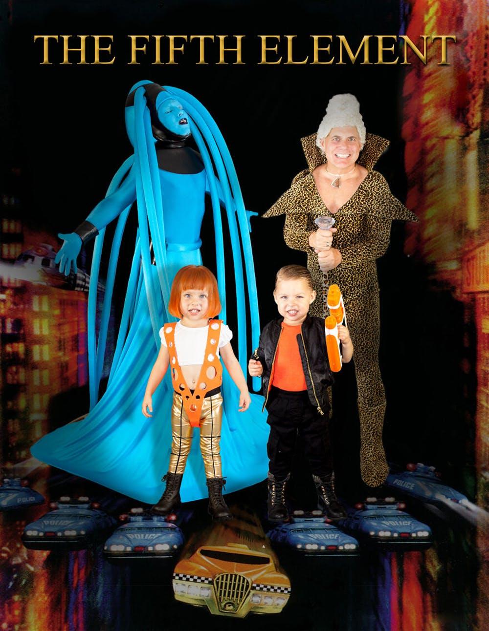 famille championne de déguisements d'Halloween Le Cinquième Élément