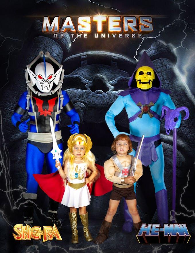 famille championne de déguisements d'Halloween Les Maîtres de l'Univers