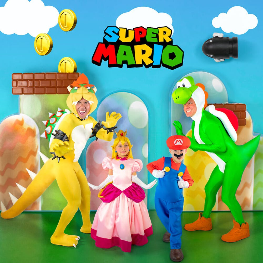 famille championne de déguisements d'Halloween Super Mario