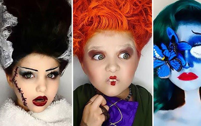 31 jours de maquillages d'Halloween d'une mère pour ses filles