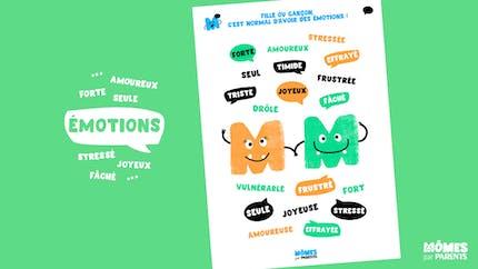 Affiche : Fille ou Garçon, c'est normal d'avoir des émotions !