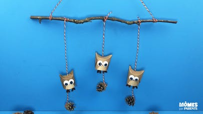 DIY Mobile chouettes