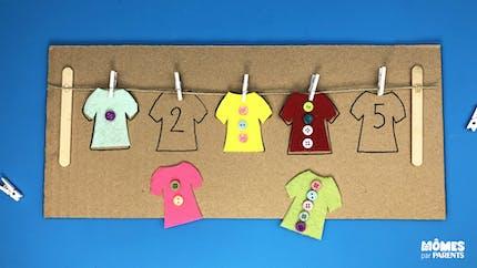 DIY Compter les boutons – Inspiration Montessori