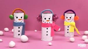Bonshommes de neige en rouleau cartonné