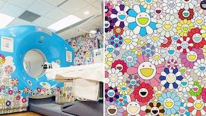 Le célèbre plasticien Takashi Murakami a décoré une salle de scanner d'un hôpital pour enfants avec ses fameuses fleurs colorées