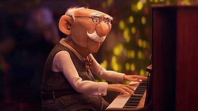 pub de noël erste bank papi qui joue du piano