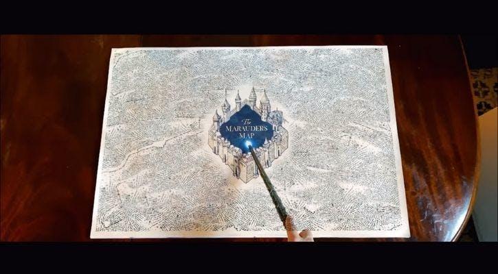 carte du maraudeur Harry Potter réalité augmentée