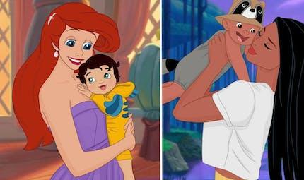 Elle imagine les Princesses Disney qui deviennent mamans !