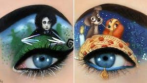 Cette artiste peint d'incroyables scènes de la culture pop sur des paupières !