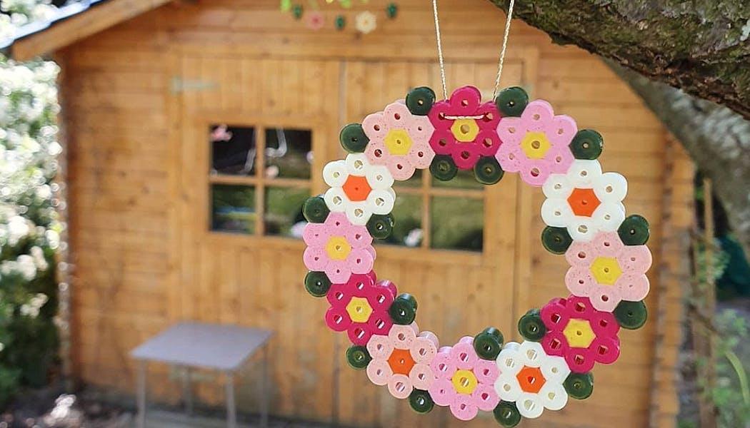 couronne de fleurs en perles chauffantes