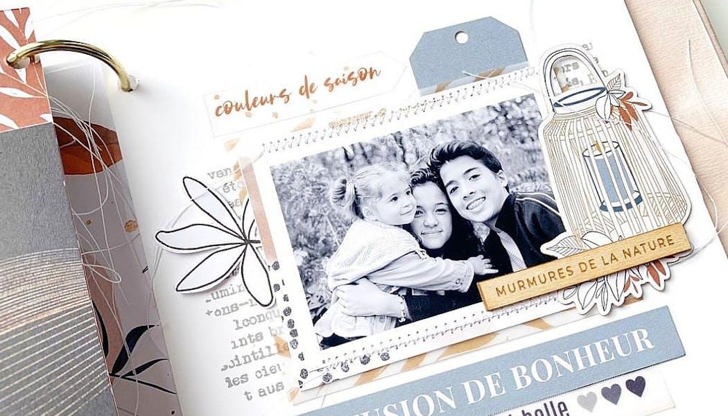 un mini album avec illustrations et photos