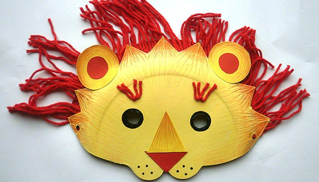 Un masque de lion de style asiatique