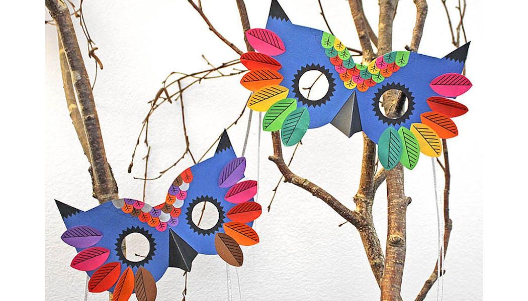 masques oiseaux style chouettes