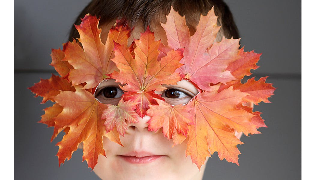 masque de feuilles