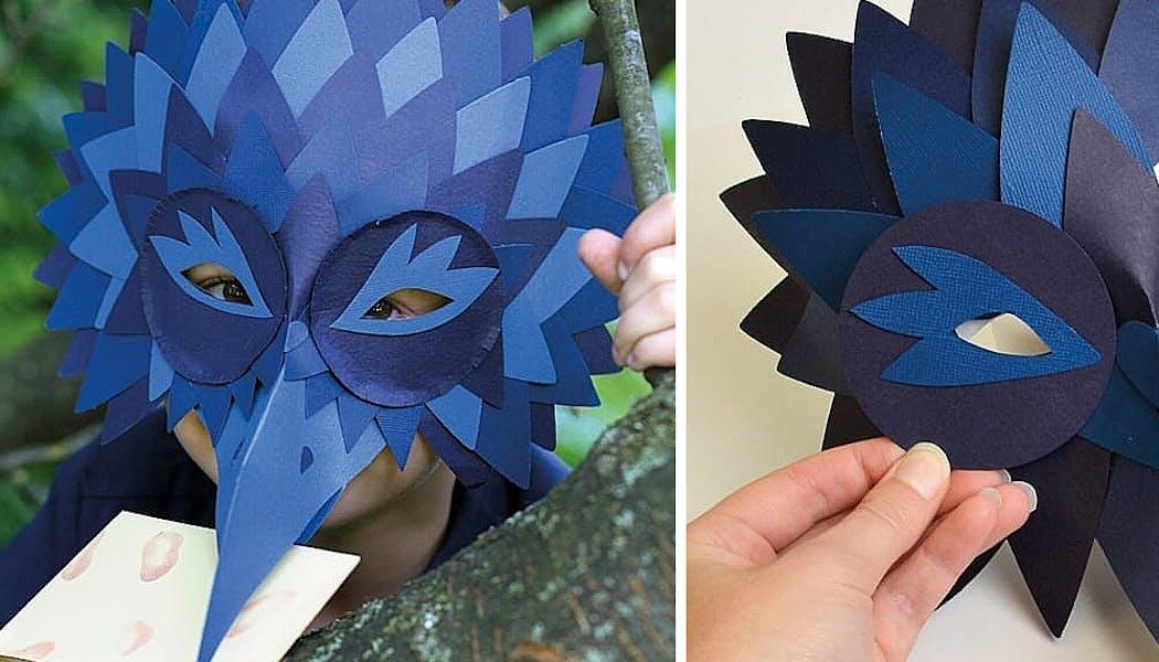 masque de corbeau bleu