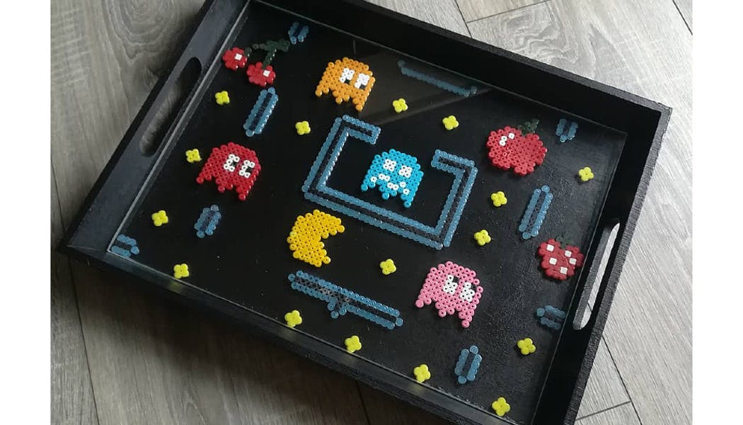 plateau Pac-Man en perles à repasser