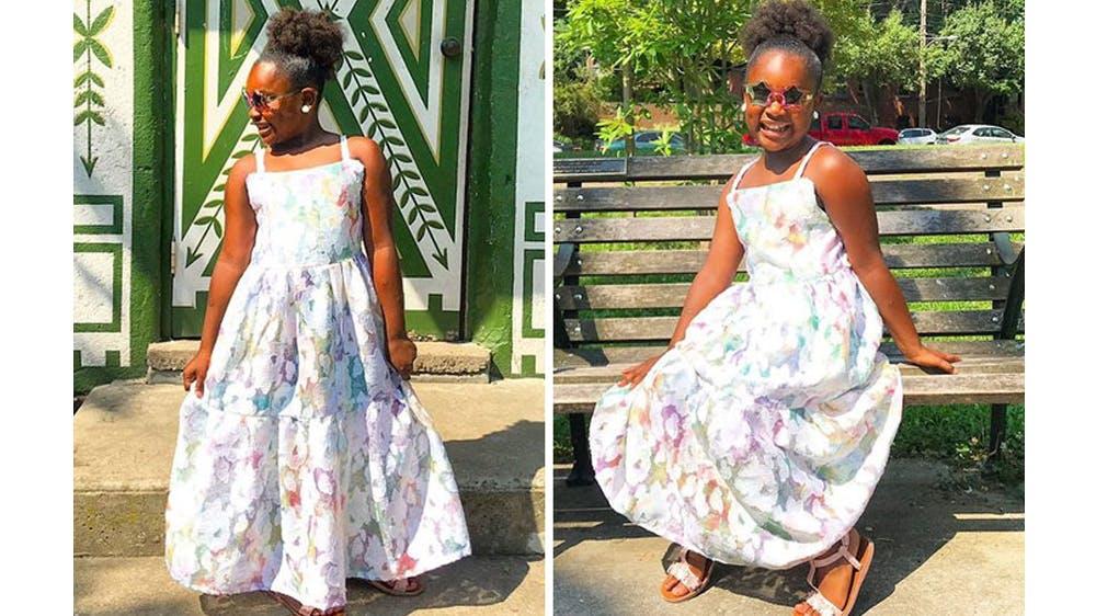 Une tenue pleine de douceur pour sa fille Ava par Michael Gardner
