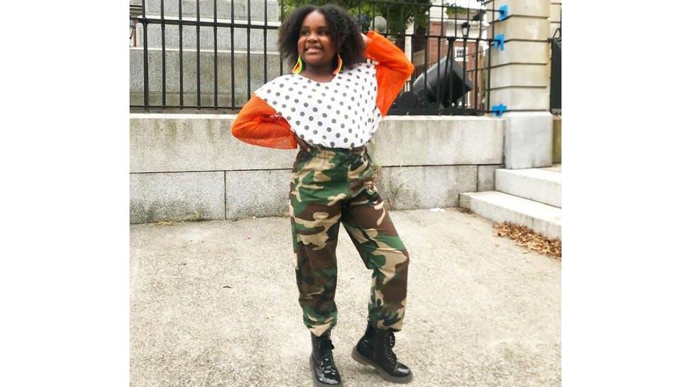 Une tenue streetwear pour sa fille Ava par Michael Gardner