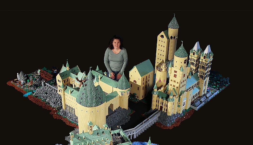 Poudlard reconstitué en Lego