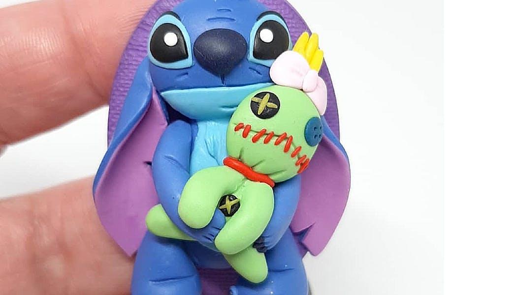 magnet Stitch et Souillon en Fimo