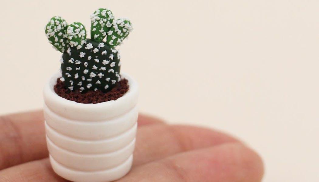 petit cactus en pâte Fimo