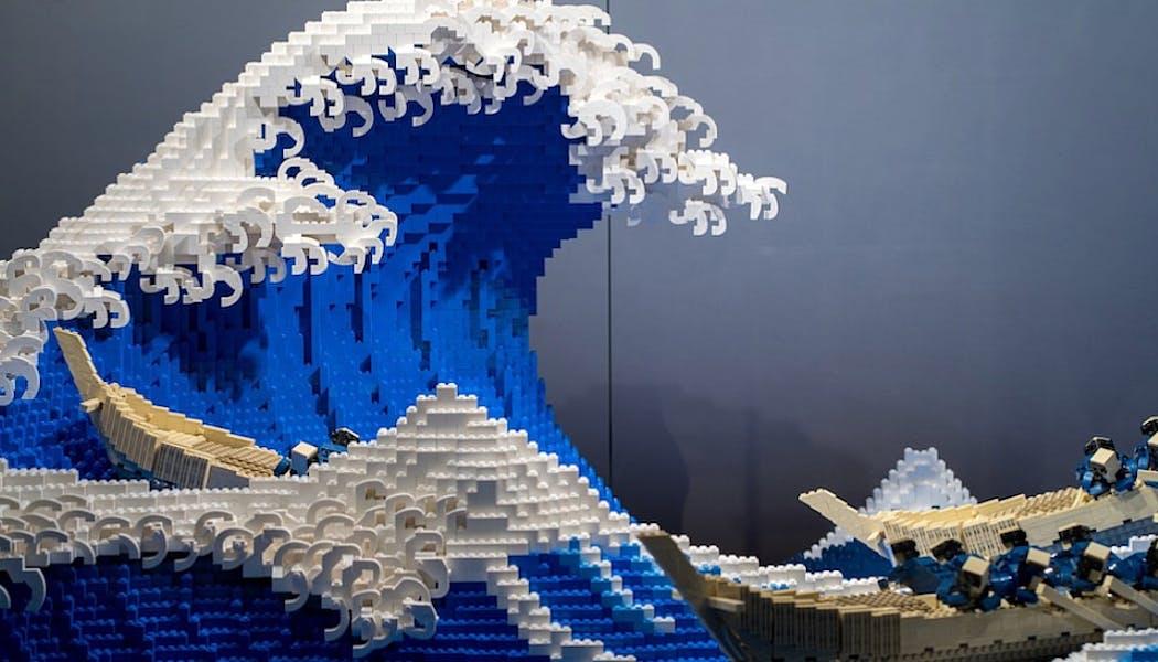 La Grande vague de Hokusai en Lego