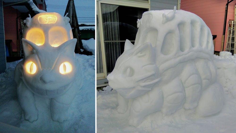 Les personnages de la pop culture sculptés dans la neige de @mokomoko_2015