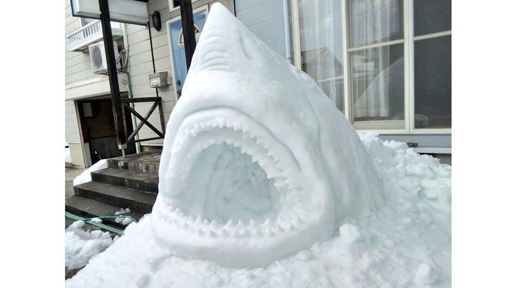 les sculptures de neige de @mokomoko_2015 inspirées de personnages de la pop culture