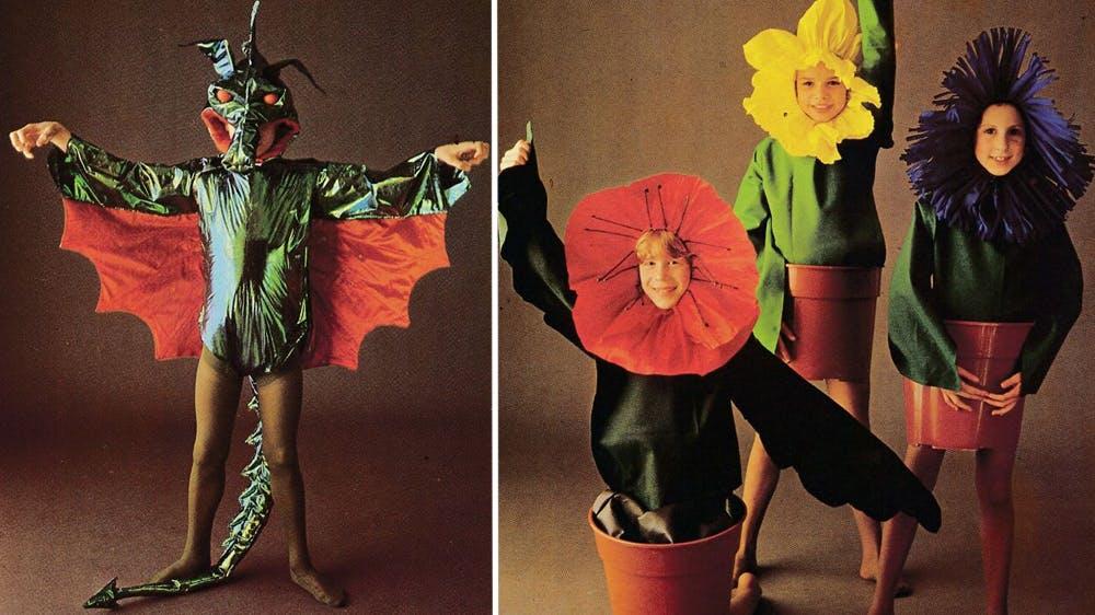 déguisement Le dragon et les fleurs années 80