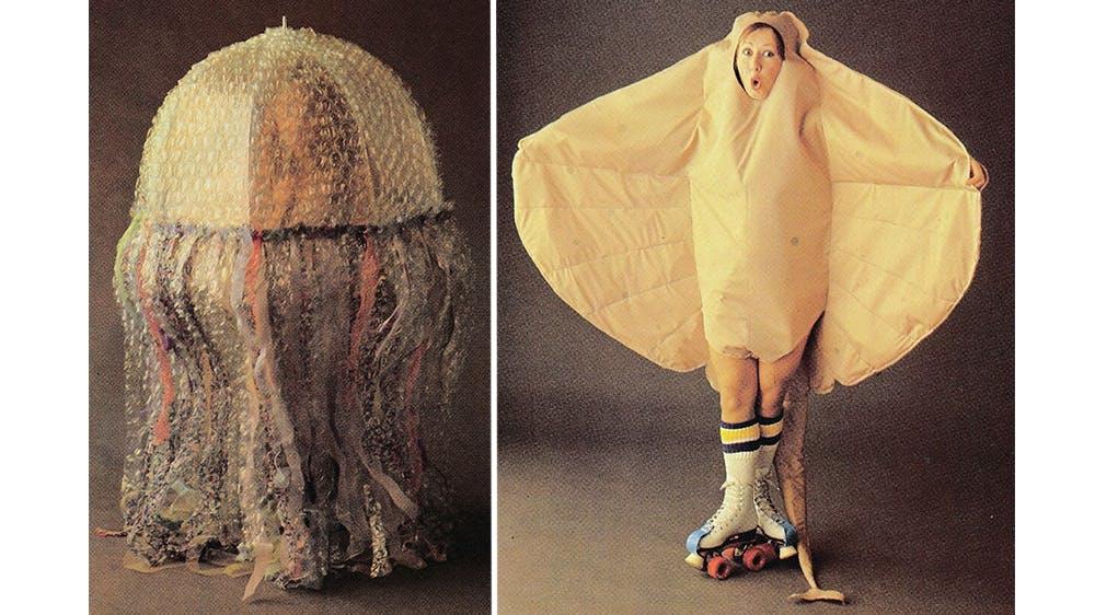 déguisement La méduse et la raie en rollers années 80