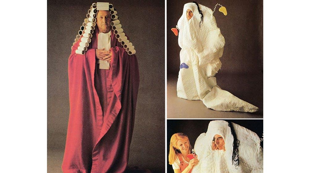 déguisement Le juge et une chose non identifiée années 80