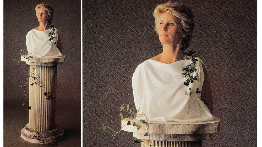 déguisement Femme-statue années 80