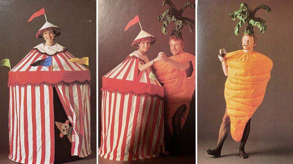 déguisement Le cirque et la carotte années 80