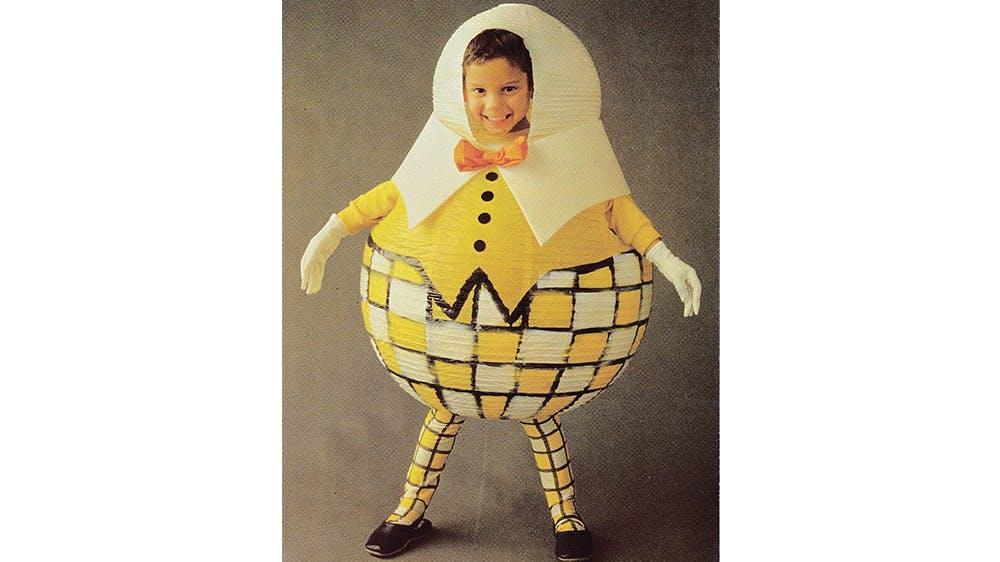 déguisement Un bonhomme-sphère jaune années 80