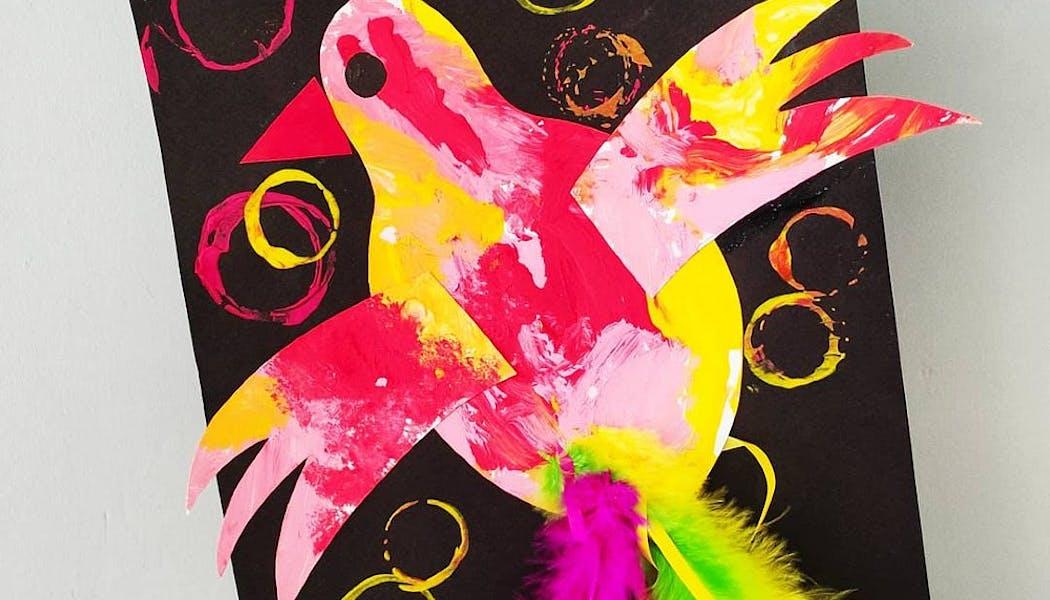 L'oiseau du printemps en papier