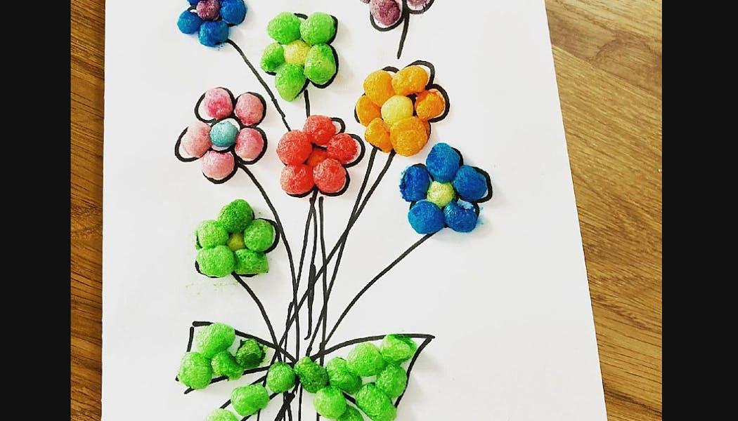 Un bouquet en playmaïs