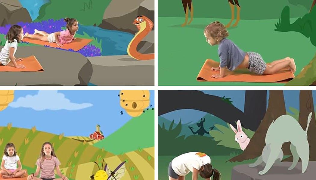 postures de yoga qui rappellent le cobra, le chat, etc