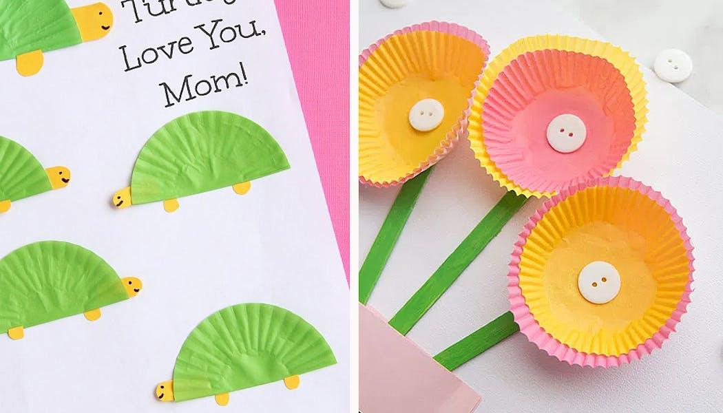cartes avec des caissettes à cupcakes