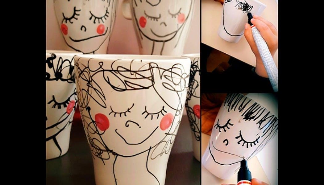 mug personnalisé avec un feutre spécial